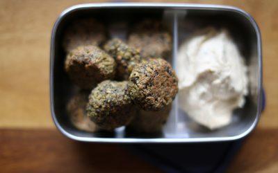 Baked Sprouted Lentil & Chickpea Falafels