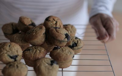 Banana, Blueberry & Chia Mini Muffins