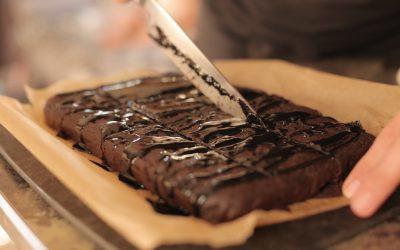 Black Bean & Sesame Chocolate Brownie