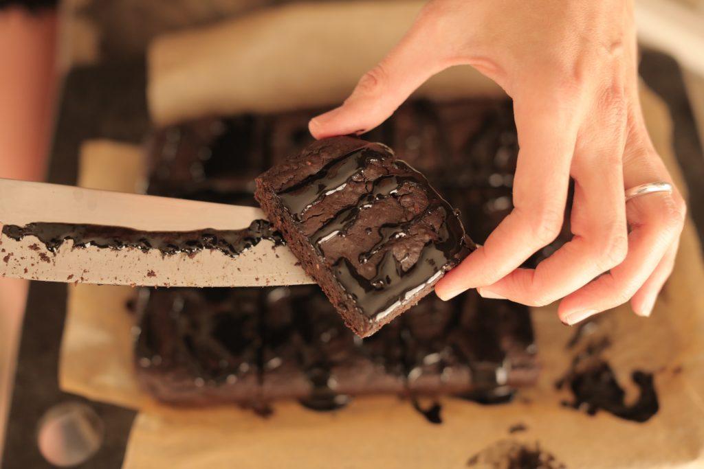 Black Bean & Sesame Chocolate Brownie by Lucy Stewart Nutrition