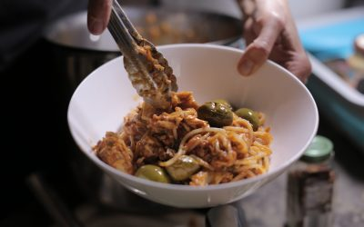 Salmon & Olive Pasta
