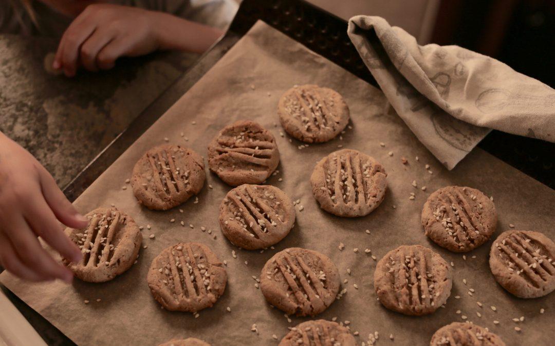 Peanut, Tahini & Date Cookies