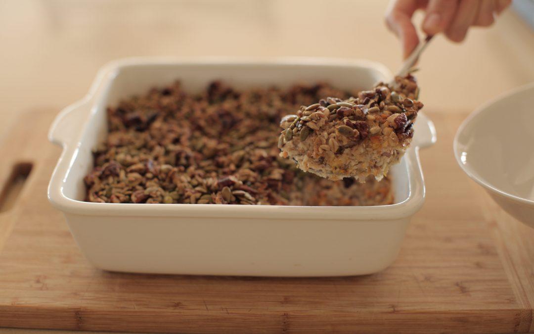 Baked Carrot Cake Porridge