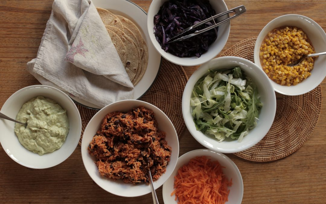 Black Bean Rainbow Tortillas