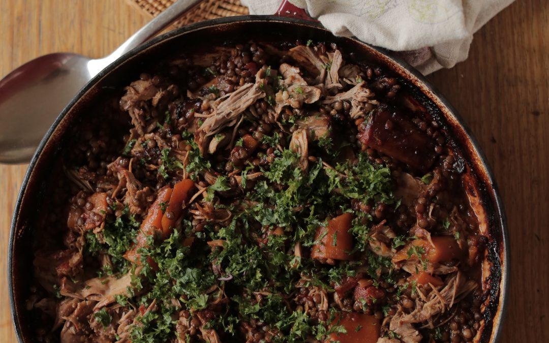 Slow Cooked Lamb & Lentils