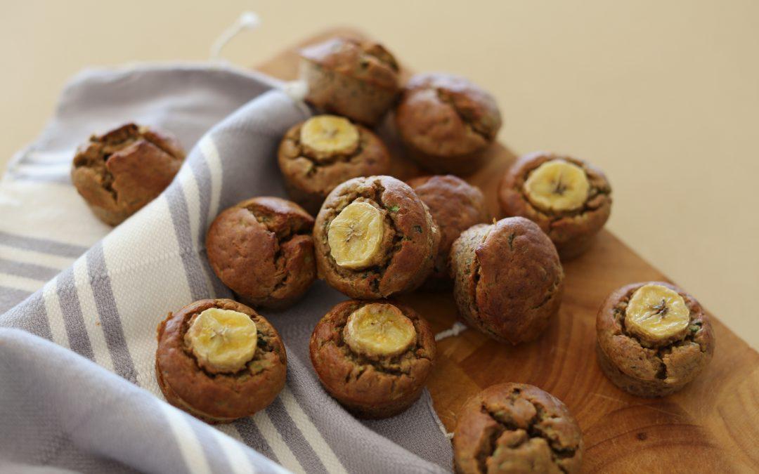 Banana & Zucchini Mini Muffins