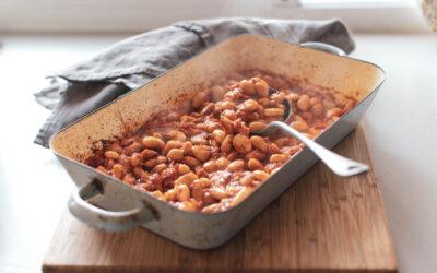 Easy Brothy Baked Beans